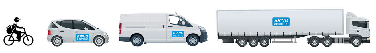 Bring Tranport Fleet - Bikes, cars, vans, trucks.